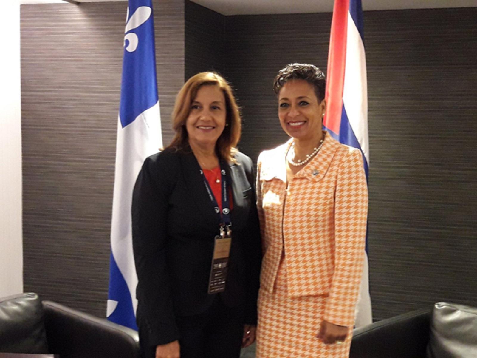 Recibe Ministra canadiense a titular de Ciencia y Tecnología de Cuba