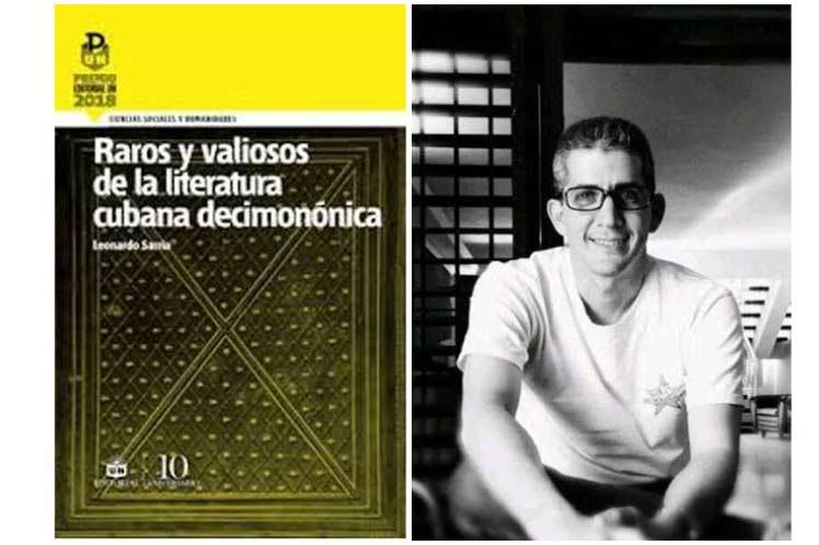 Libro Raros y valiosos de la literatura cubana decimonónica