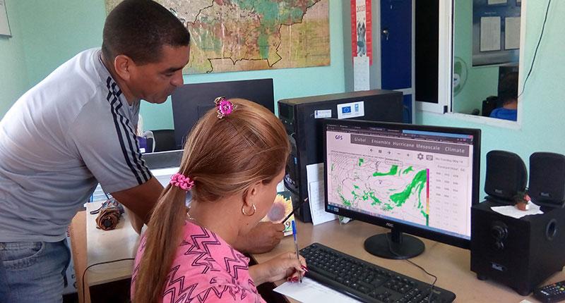 El soporte informático actualizará sobre el quehacer investigativo de los meteorólogos y el riesgo de desastres (FOTO/De la autora)