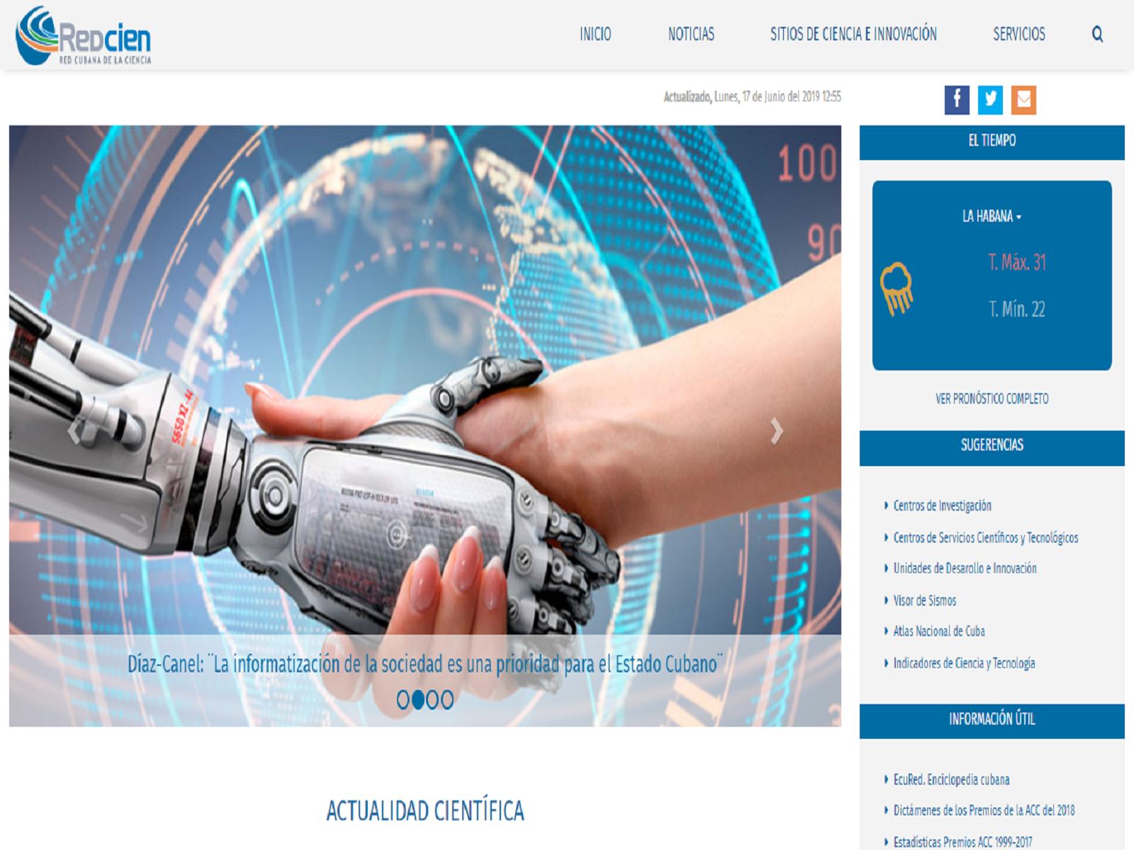 Portal de la Red Cubana de la Ciencia