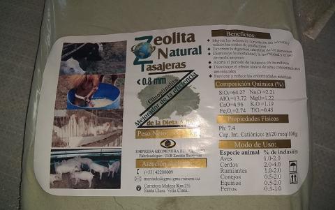 Planta de zeolita Tasajeras incursiona en la producción de Agromena